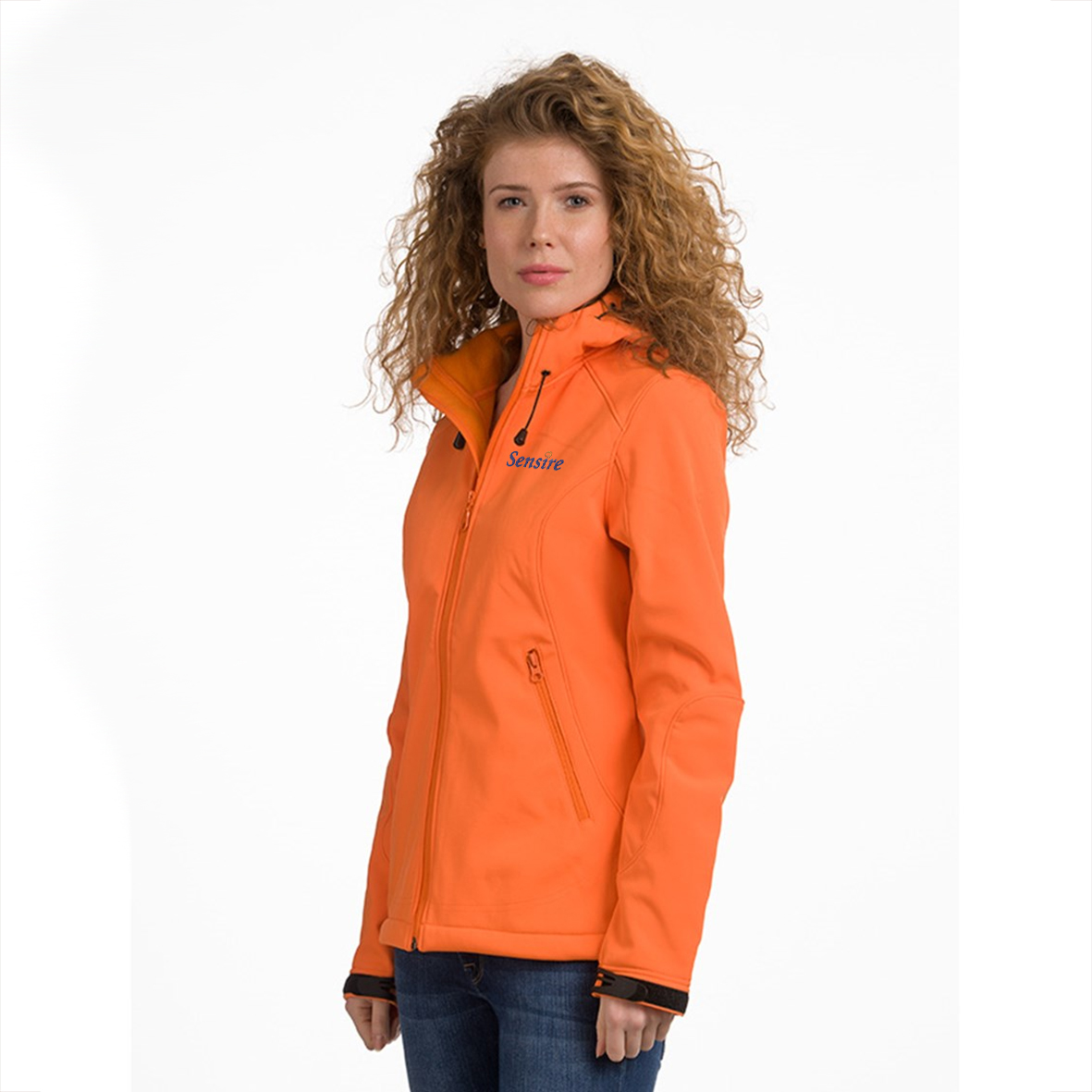 Hooded Softshell Dames LEM3627 Oranje